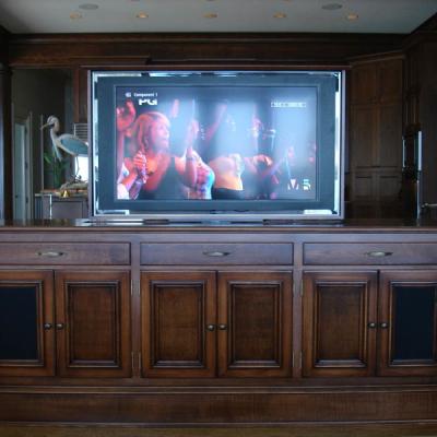 TV Lift in kitchen